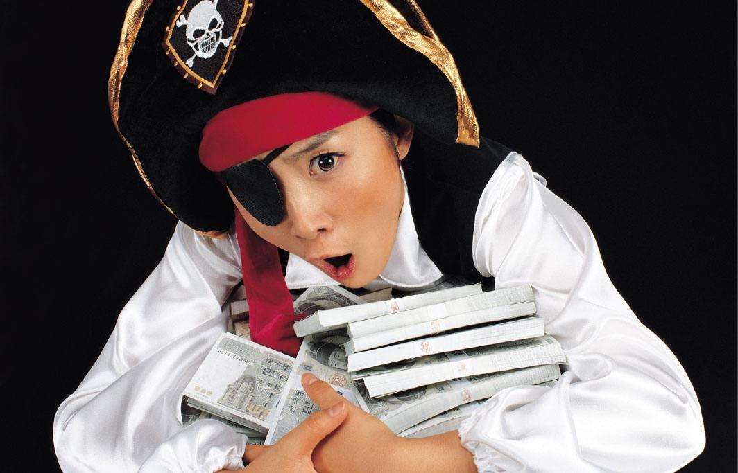 kinderspiele schatzsuche und kinder in piraten verkleidung