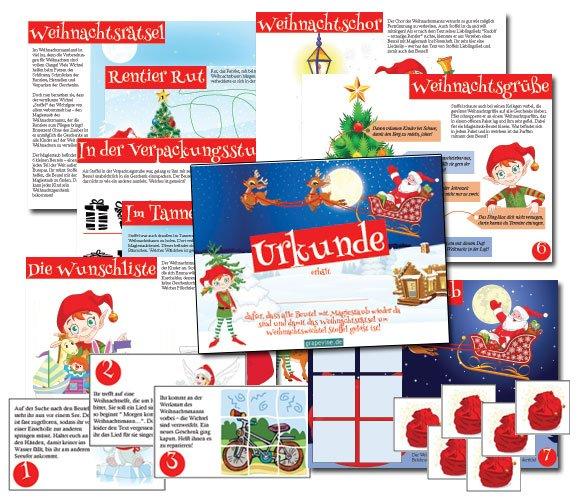 weihnachtliche schatzsuche zum kindergeburtstag